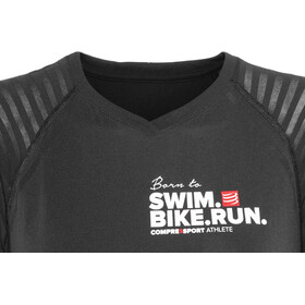 Compressport SwimBikeRun Training Kortärmad löpartröja Dam svart